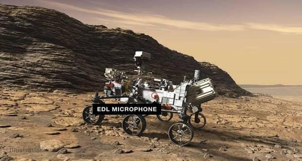 اولین مریخنورد مجهز به میکروفن ناسا صداهای فضایی را به زمین مخابره کرد