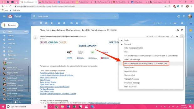 بلاک کردن ایمیل در Gmail