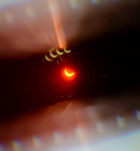 گزارش تصویری آخرین خورشید گرفتگی سال 2020
