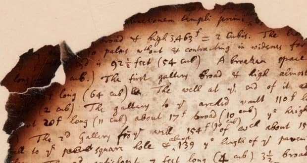 دست نوشتههای سوخته نیوتن تحقیقات آخرالزمانی این نابغه را برملا میکنند