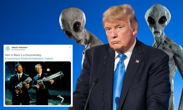 آیا فدراسیون کهکشانی فرازمینیها با رئیس جمهور آمریکا در ارتباط است؟