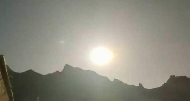 انفجارهای مهیب یک گوی آتشین ناشناس در آسمان چین + ویدیو