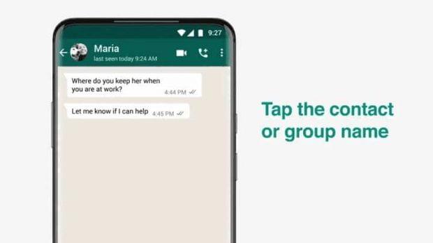 مراحل فعال کردن Disappearing Messages واتساپ