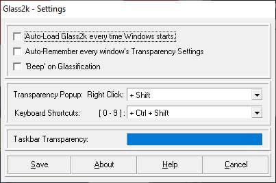 شفاف کردن پنجره ها در ویندوز