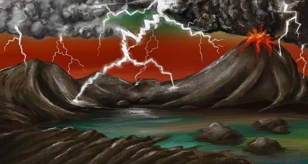 وقوع رعد و برق های باستانی حیات زمینی را به وجود آورده است