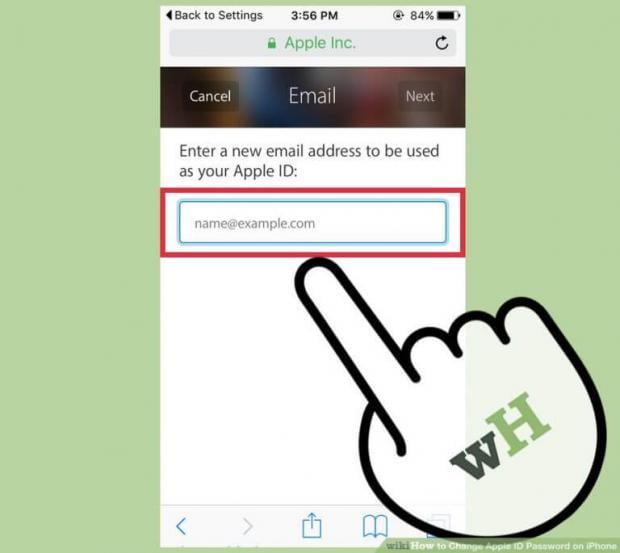 تغییر رمز عبور اپل آیدی
