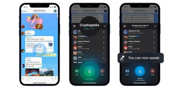 چت صوتی در تلگرام