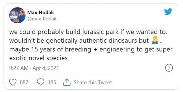 به گفته بنیانگذار نیورالینک ساخت پارک ژوراسیک واقعی امکان پذیر است