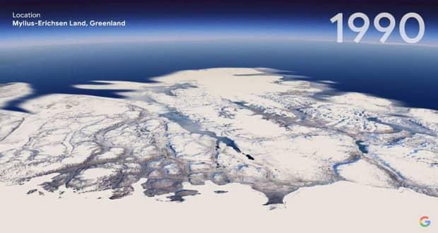 قابلیت تایم لپس جدید گوگل ارث چهل سال از عمر سیاره را به ما نشان میدهد