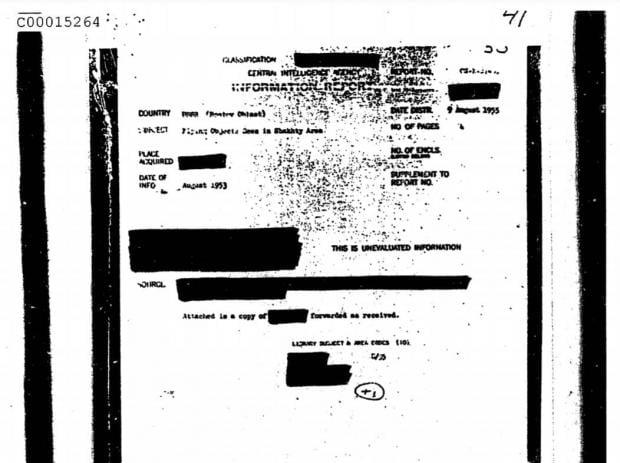 سازمان سیا آمریکا هزاران گزارش و اسناد محرمانه یوفو را منتشر کرد