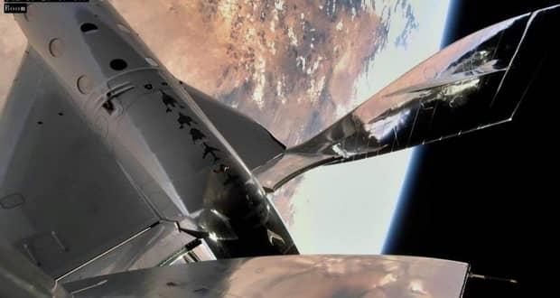 فضاپیمای ویرجین گلکتیک برای اولین بار انسانها را به فضا برد + ویدیو