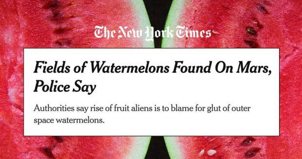 انتشار اشتباهی خبری در مورد کشف هندوانه در مریخ