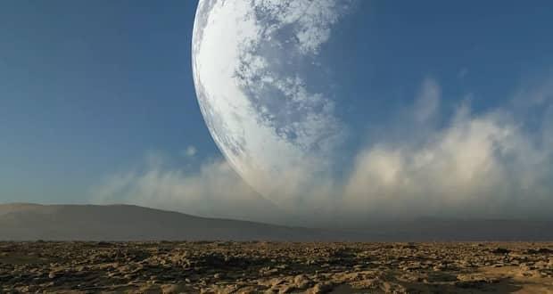 فاصله ماه تا زمین