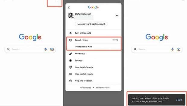 تاریخچه جستجوی گوگل