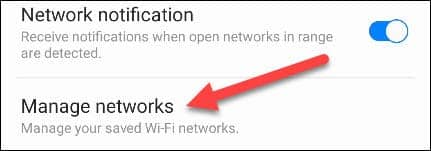 فراموش کردن شبکه وای فای در سری سامسونگ گلکسی - 5