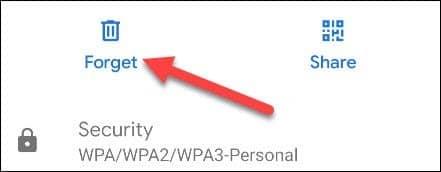 فراموش کردن شبکه وای فای در گوگل پیکسل - 6