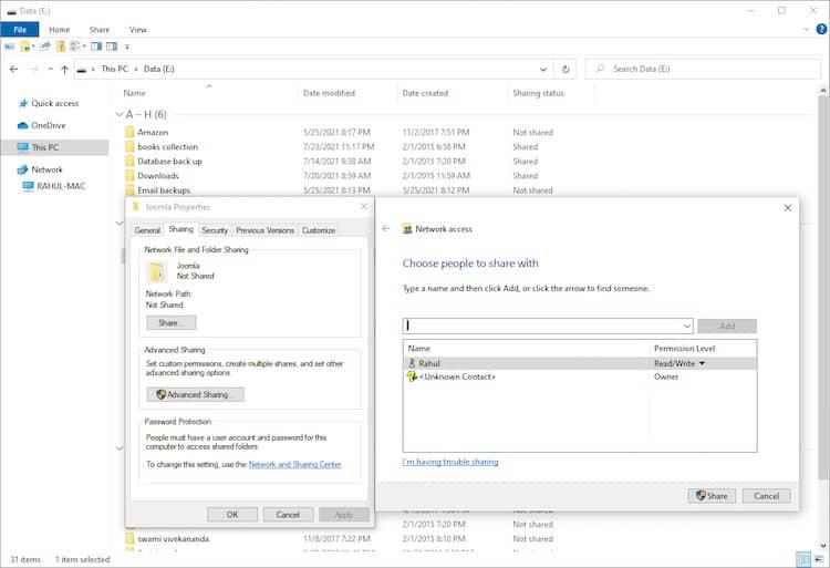 انتقال فایلها از مک به ویندوز - 8