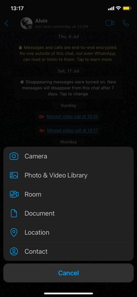 ارسال تصاویر باکیفیت در واتساپ