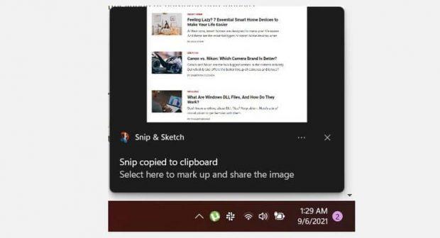 آموزش اسکرین شات گرفتن در ویندوز 11 با استفاده از Snip and Sketch - 2