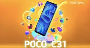 مشخصات کلیدی و طراحی گوشی پوکو C31