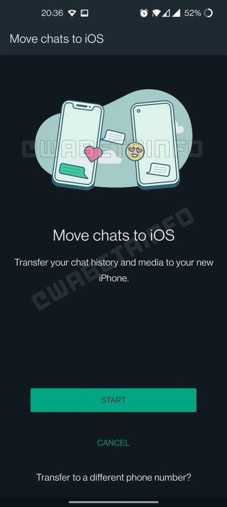 انتقال چت واتساپ